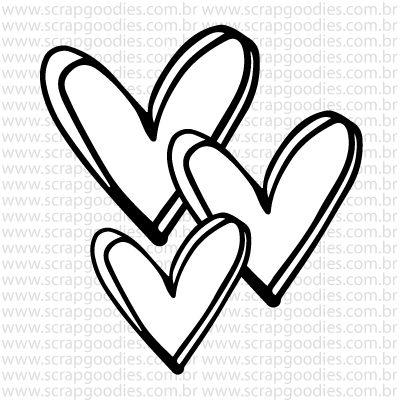757 - 3 Corações   - SCRAP GOODIES