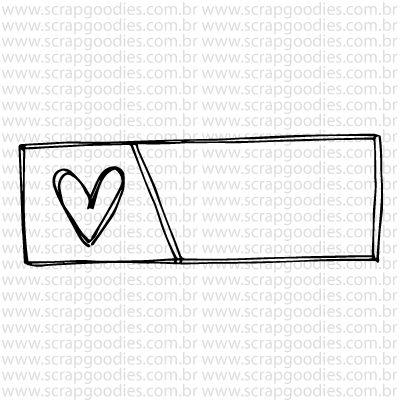 765 - Selo tag coração  - SCRAP GOODIES