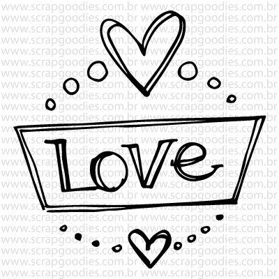 767 - Selinho love coração  - SCRAP GOODIES