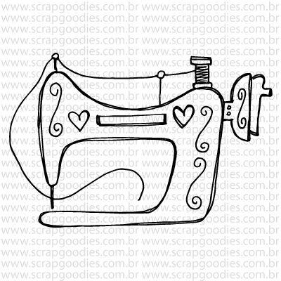 770 - Máquina costura vintage  - SCRAP GOODIES