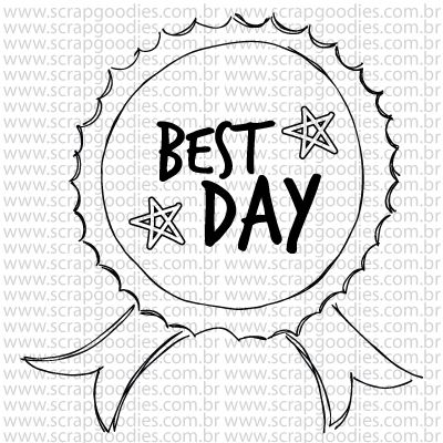 771 - Best day medalha  - SCRAP GOODIES