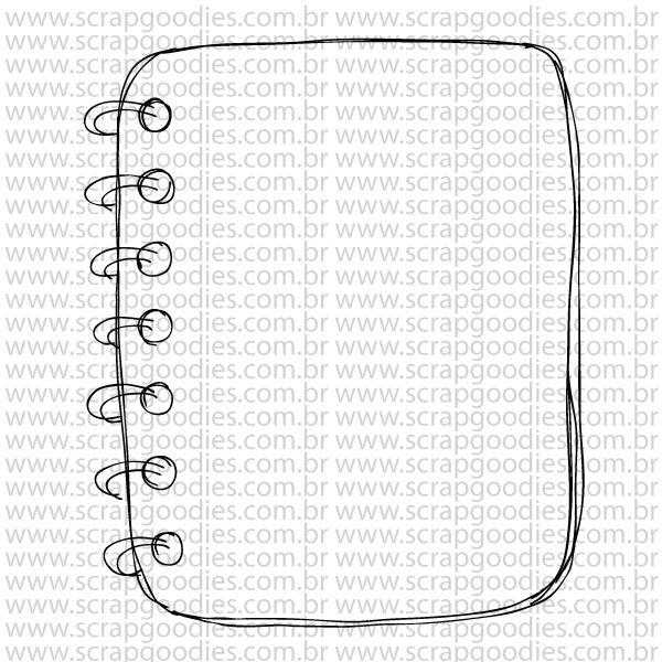 778 - Caderno espiral  - SCRAP GOODIES