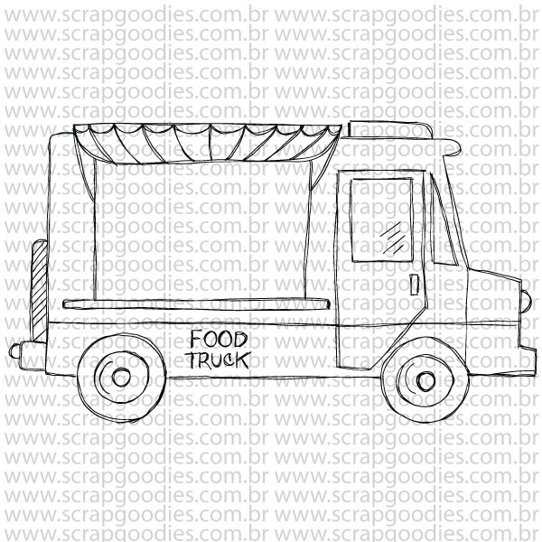 788 - Food Truck  - SCRAP GOODIES