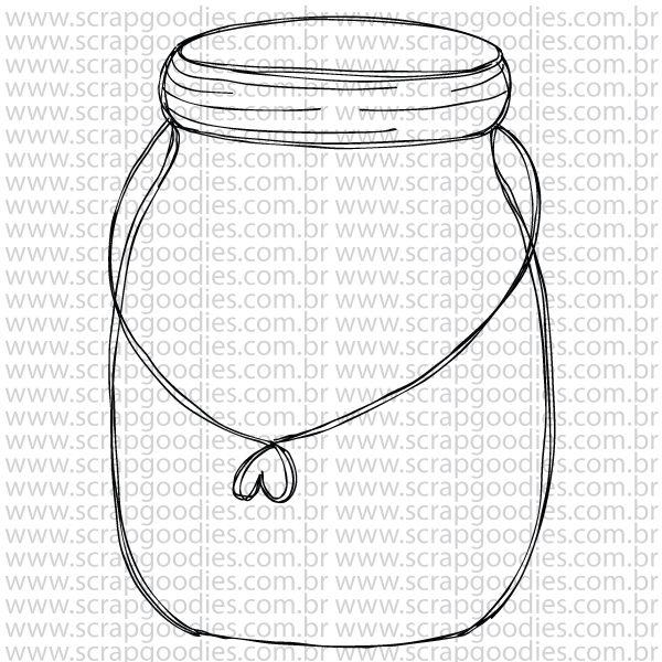 790 - Pote vidro - alça de coração  - SCRAP GOODIES