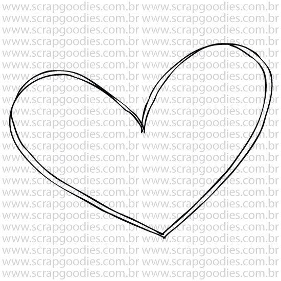 796 - Coraçãozinho Essencial   - SCRAP GOODIES