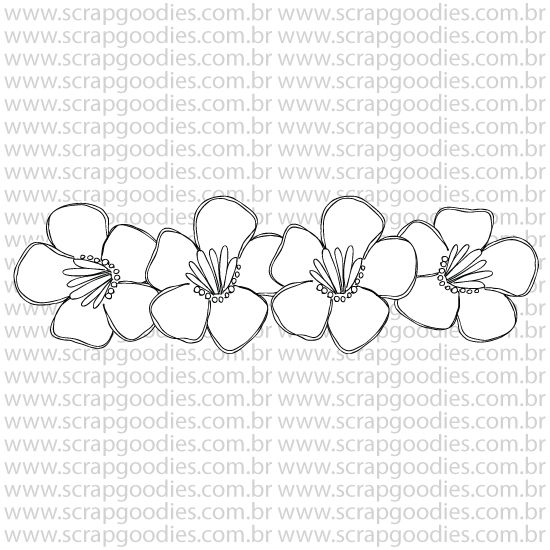 799 - Barra de flores  - SCRAP GOODIES