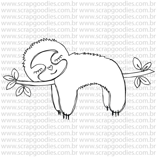 800 - Bicho Preguiça  - SCRAP GOODIES