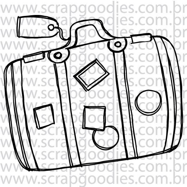 816 - Mala de viagem com tag  - SCRAP GOODIES
