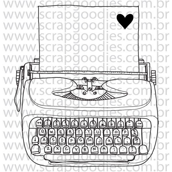 822 - Máquina de escrever linhas  - SCRAP GOODIES