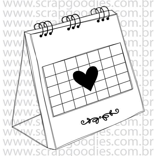 824 - Calendário de Mesa  - SCRAP GOODIES