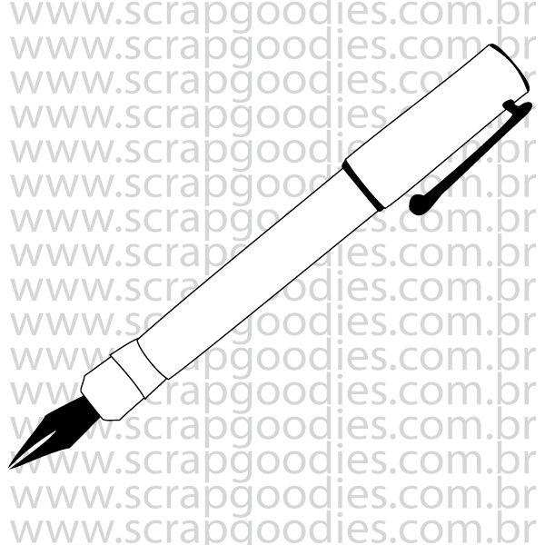 840 - Caneta Tinteiro  - SCRAP GOODIES