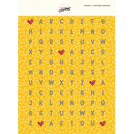 ADESIVO ALFABETO - Amarelo  - SCRAP GOODIES