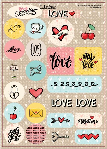 adesivo Linha LOVE  - SCRAP GOODIES