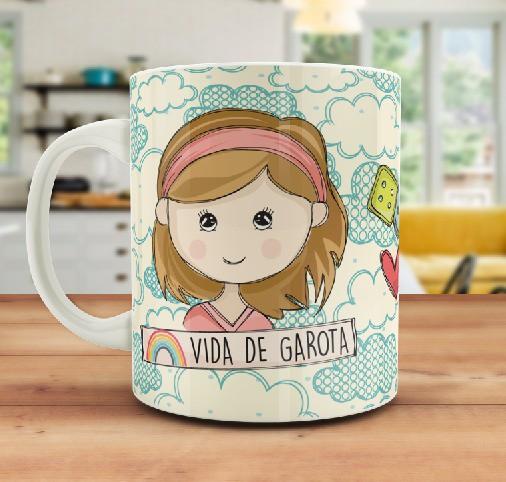 CANECA PERSONALIZADA VIDA DE GAROTA  - SCRAP GOODIES