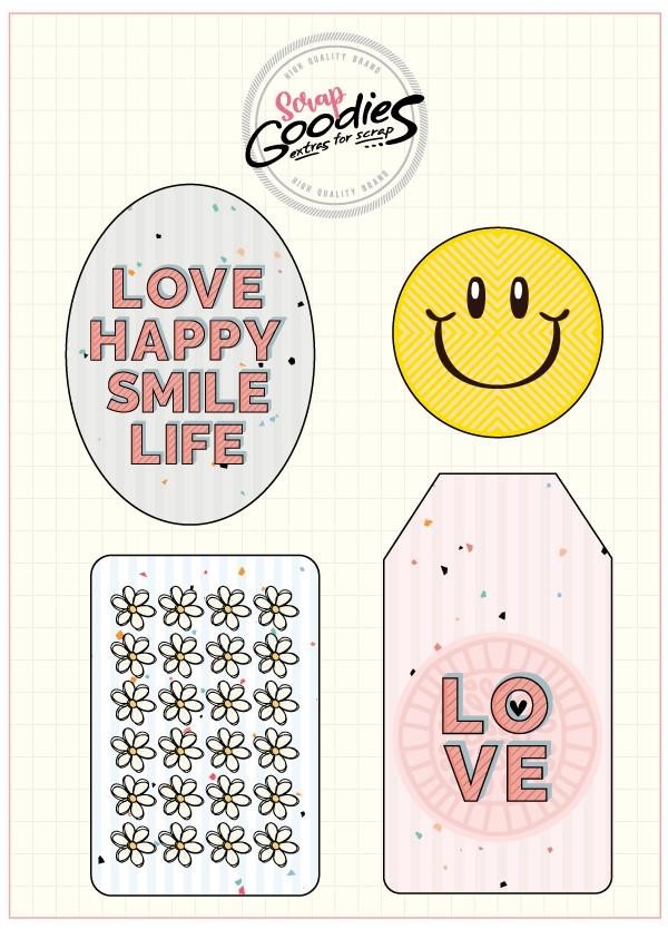 Chipboard decorado - Viva seu Momento  - SCRAP GOODIES