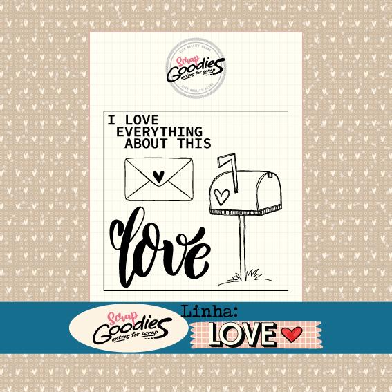 Clear Stamp - Carimbo LOVE   - SCRAP GOODIES