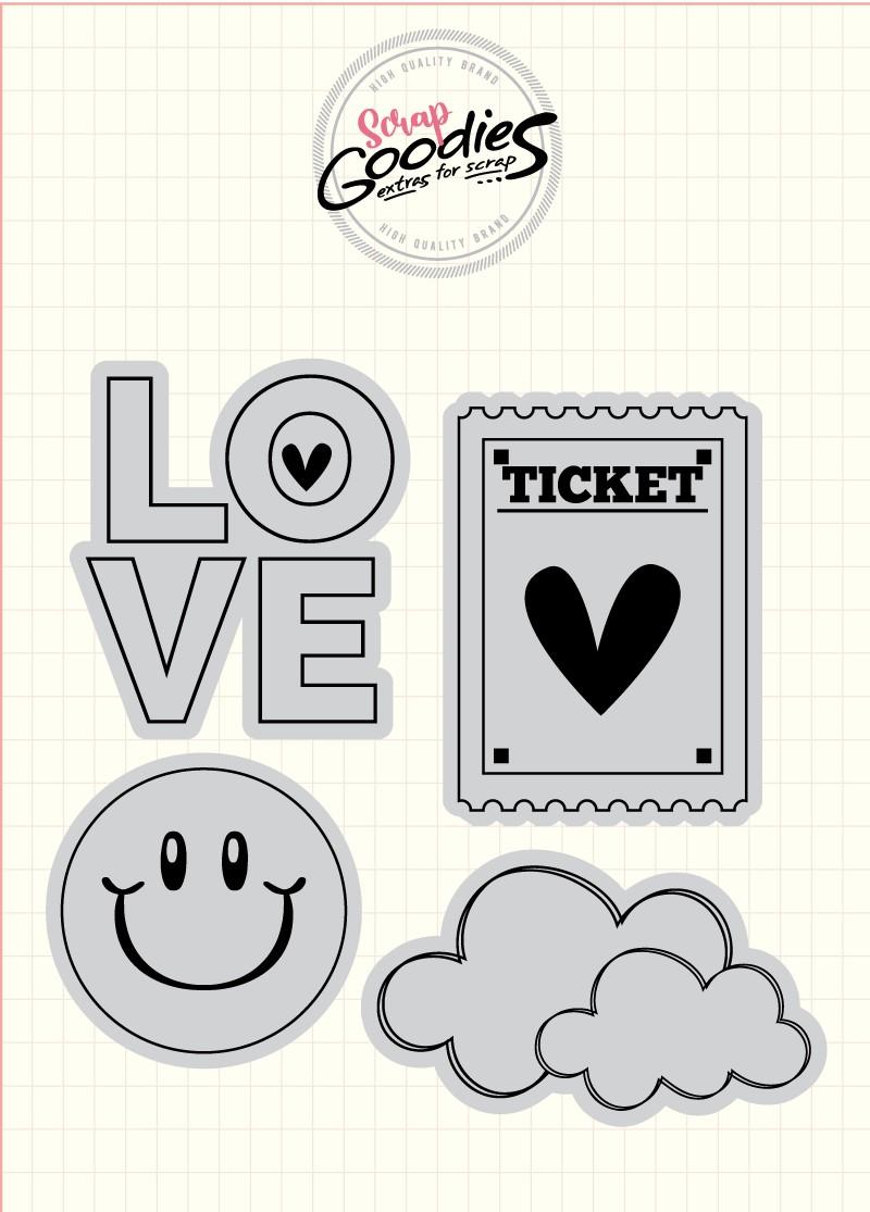 Clear Stamp - Carimbo Smile  - SCRAP GOODIES
