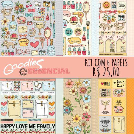 KIT Papéis Essencial - 1 de cada modelo  - SCRAP GOODIES