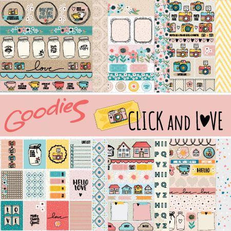 KIT Papéis linha CLICK & LOVE - 6 modelos  - SCRAP GOODIES