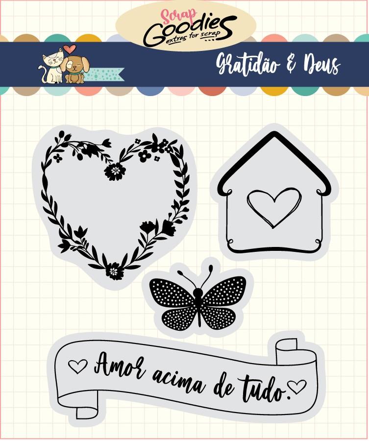 LANÇAMENTO!!! Clear Stamp Gratidão - Amor acima de tudo  - SCRAP GOODIES