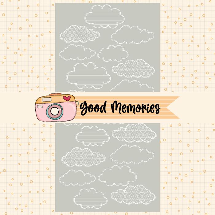 LINHA GOOD MEMORIES - TRANSPARÊNCIA NUVEM  - SCRAP GOODIES