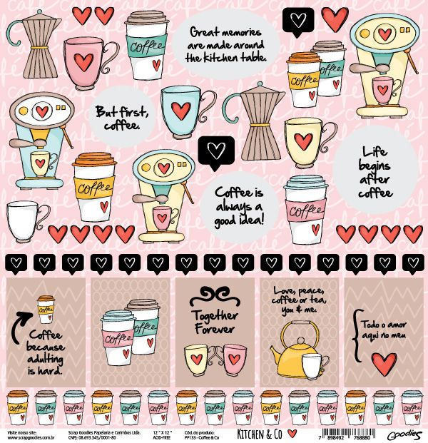 PP133 - Coffee & Co  - SCRAP GOODIES