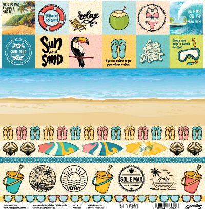 PP164 - Praia e Mar - SCRAP GOODIES
