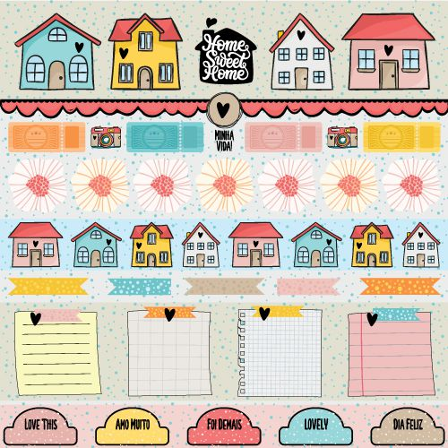 PP177 - Papel HOME  - SCRAP GOODIES