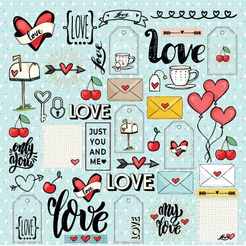 PP 230 - papel LOVE IS IN THE AIR  - SCRAP GOODIES