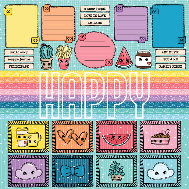PP236 - HAPPY  - SCRAP GOODIES