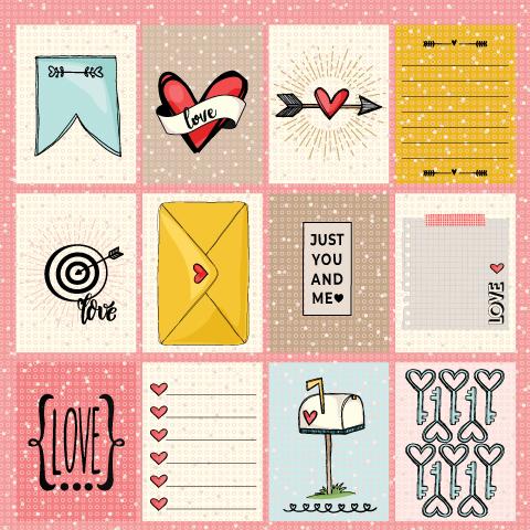 PP 234 - ALL WE NEED IS LOVE  - SCRAP GOODIES