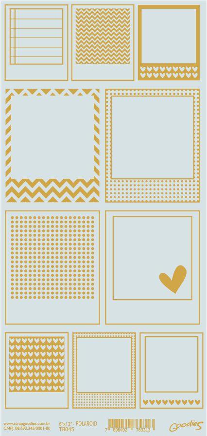 transp POLAROID impressão dourado  - SCRAP GOODIES