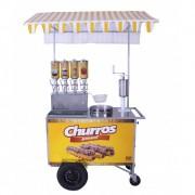 Carrinho de Churros Gourmet  Masseira Fuso Tubo c/ 4 Doceiras 2 L R0077 R2