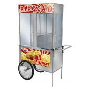 Carrinho de Pipoca Luxo Inox com Rodas De Bicicleta - L21RB - CEFAZ