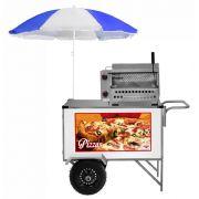 Carrinho de Pizza e Minipizza com Rodas Pneumáticas e Guarda Sol-  BL30P/GS - CEFAZ