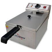 Fritadeira Elétrica 1 Cuba 5 Litros De Óleo Inox 127V Fe-10-N Skymsen
