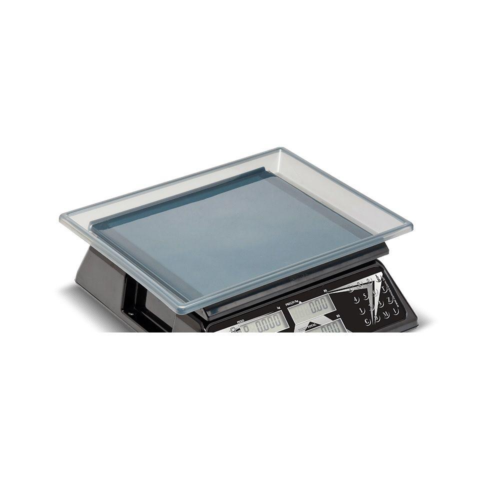 Balança Computadora de Cristal Líquido 15 kg DCR CL Preta Ramuza