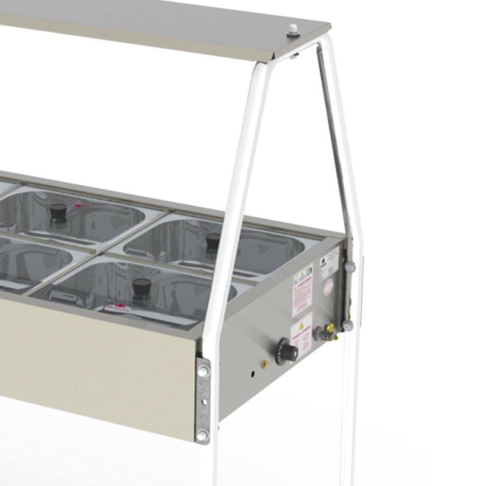 Buffet Térmico 10 Cubas Tampas de Vidro PRB-10GN 127V Progás