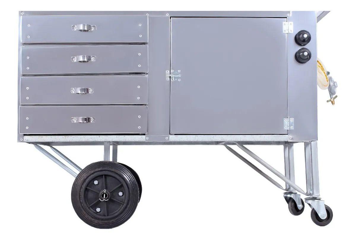 Carrinho de Tapioca em Aço Inox - 66419 R2