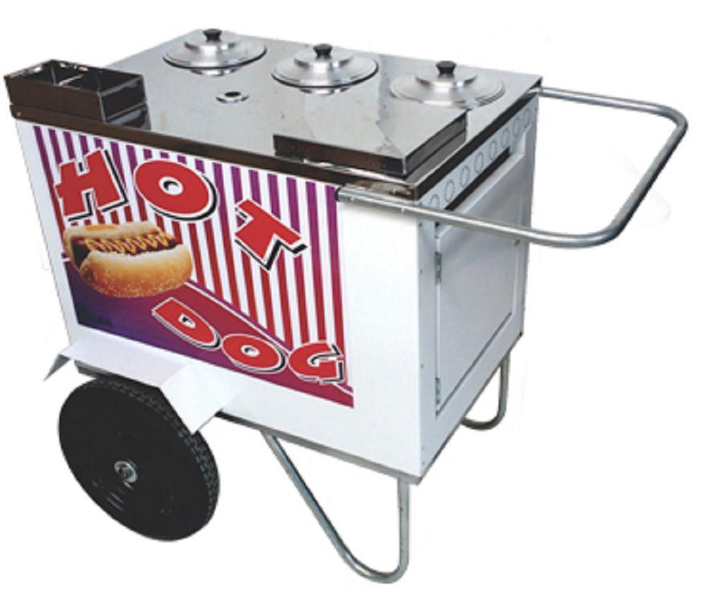 CARRINHO HOT-DOG 75 X 50 C/INST GAS RODA PNEUMATICA