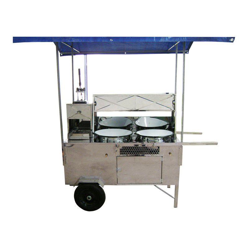 Carrinho  2 em 1 para Pastel e Batata Frita Palito com 2 tachos - 66580 R2