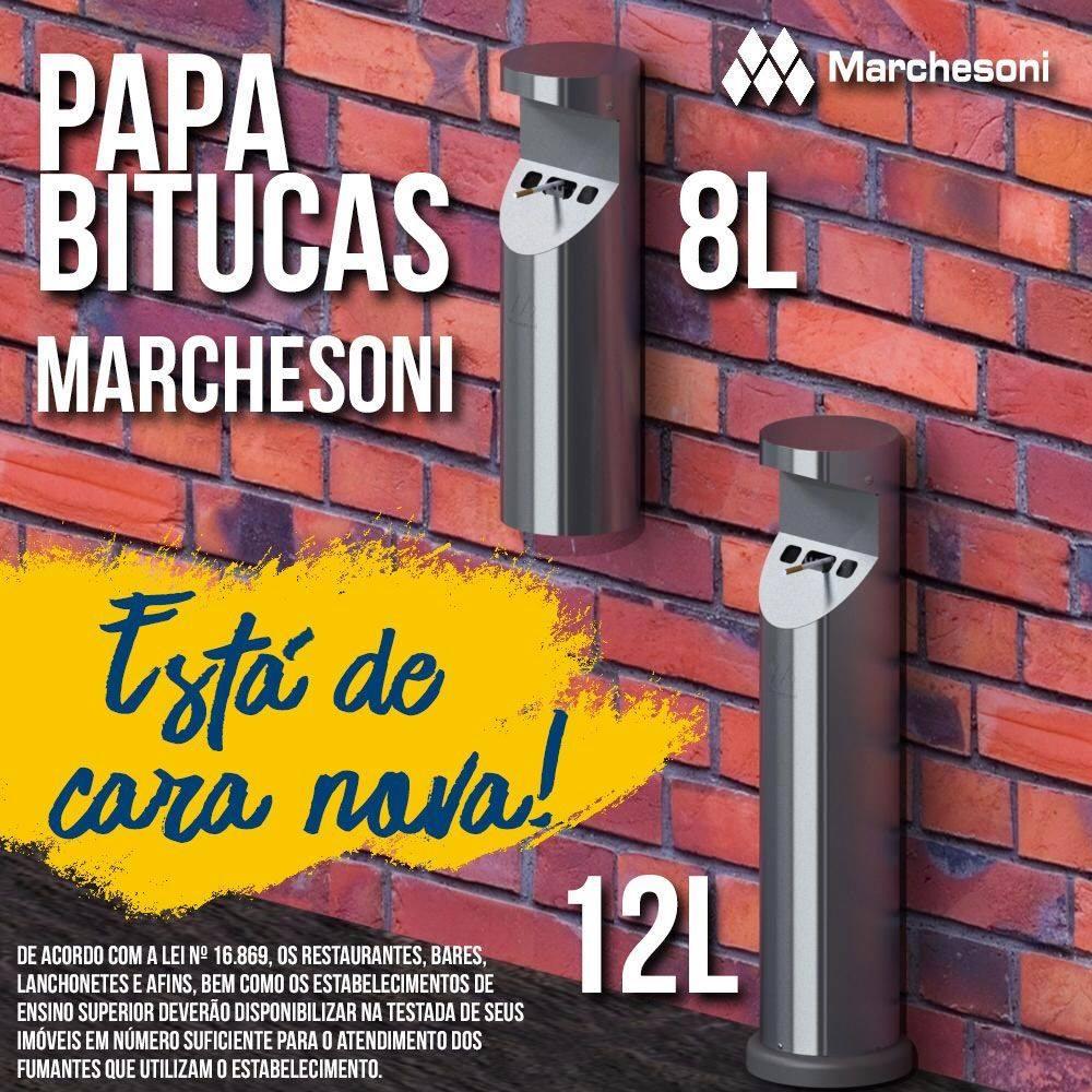 DEPÓSITO DE BITUCAS INOX PAREDE - 8L PB.2.008 - MARCHESONI