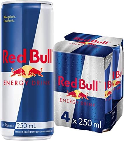 Energético Red Bull - Pack com 4 unidades de 250ml