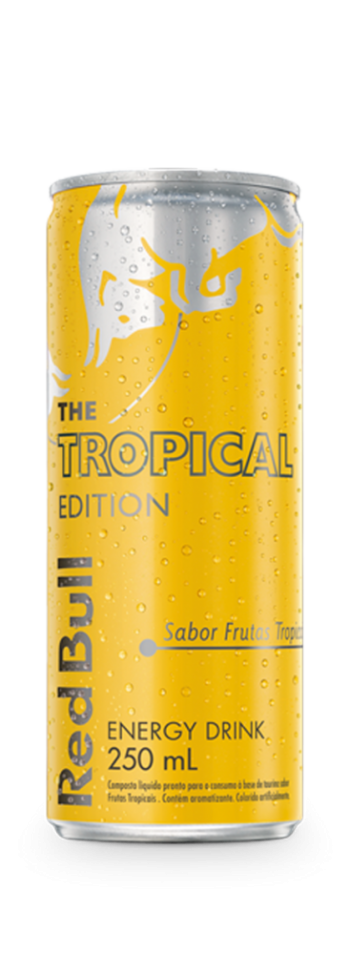 Energético Red Bull Tropical Edition - Pack com 4 unidades de 250ml