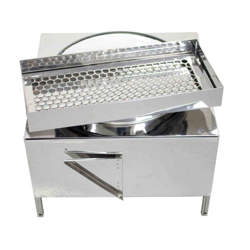Fogão Pasteleiro Fritador de Pastel Inox com Escorredor com Tacho número 18 - 0091 R2