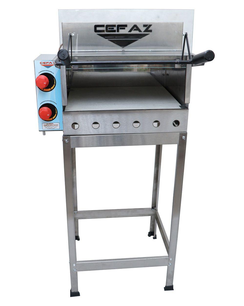 Forno de Pizza à Gás Refratário com Grill e Cavalete  FRGC-02 Cefaz