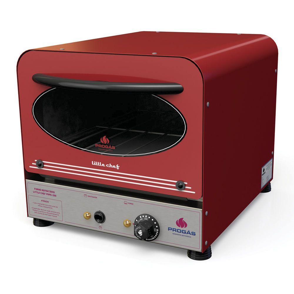 Forno Refratário Little Chef Color Elétrico 127v PRPE-200 Color Progás