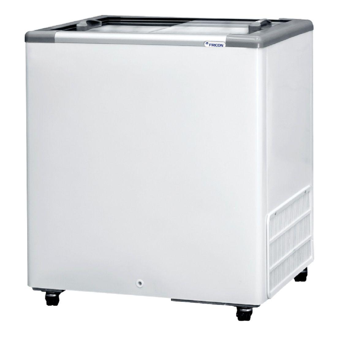 Freezer Expositor Horizontal 216 Litros Tampa de Vidro HCEB-216 220v Fricon