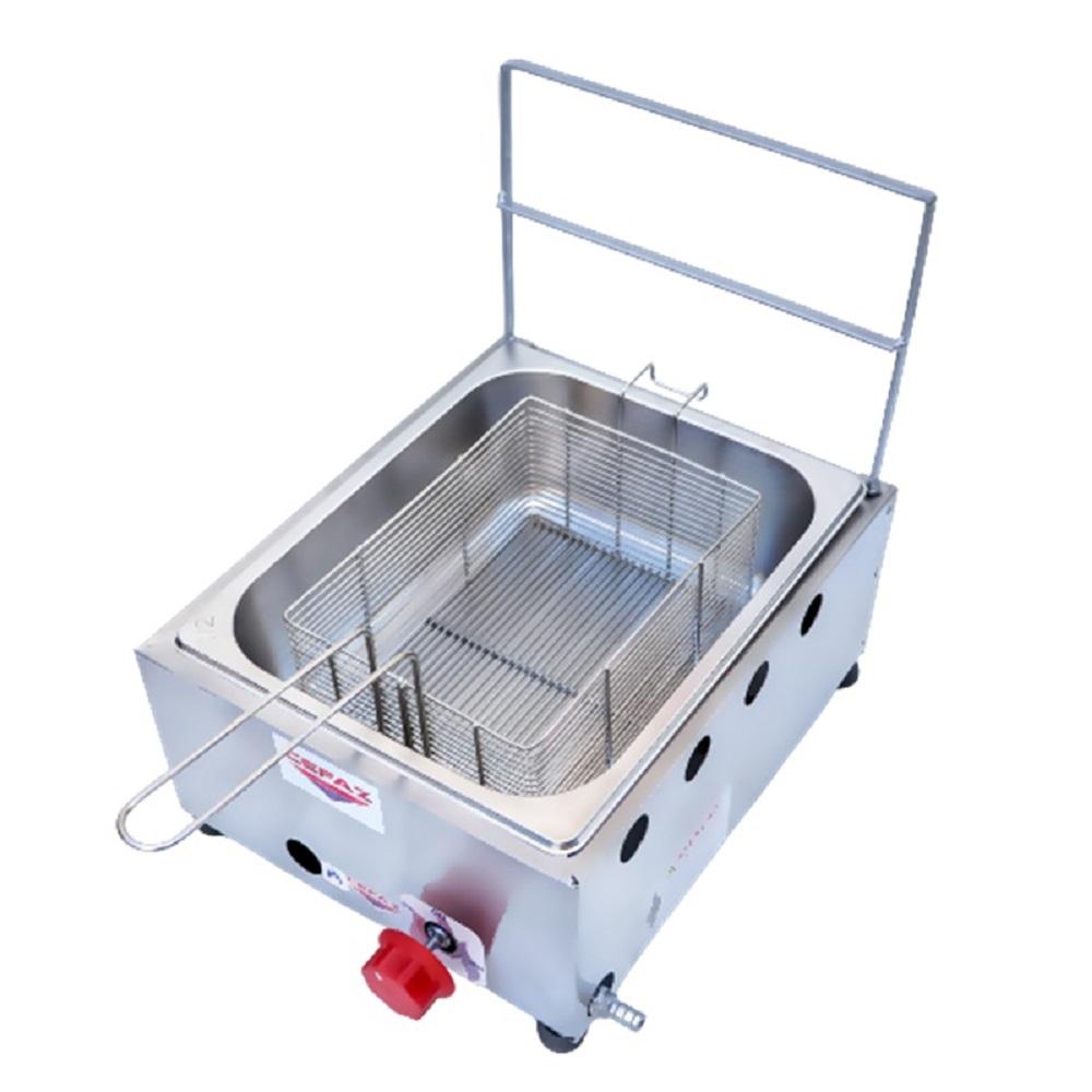 Fritadeira a Gás 1 Cuba 5 Litros Baixa Pressão FC-01 Cefaz