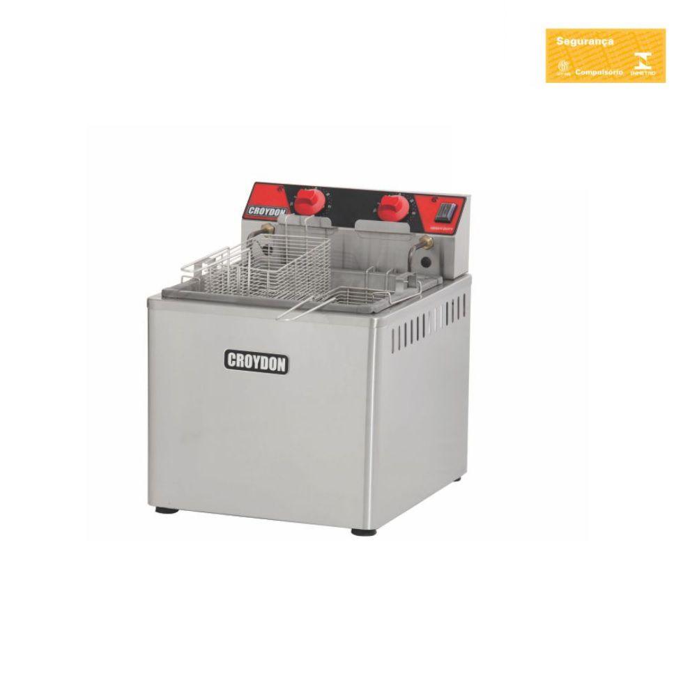 Fritadeira Elétrica 8000W Zona Fria 15 Litros Fzm8-2 Croydon